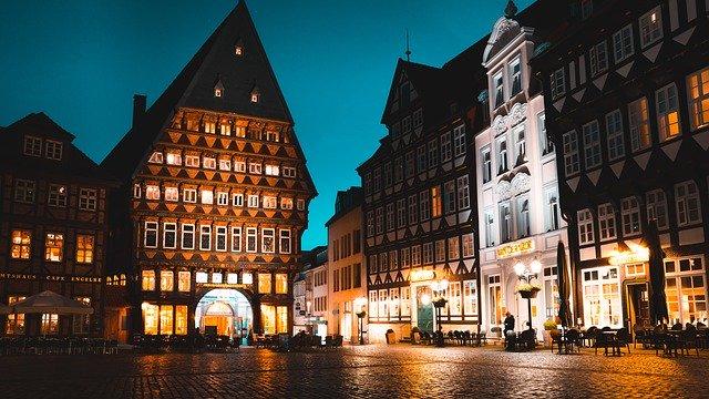 Hildesheim bei Nacht